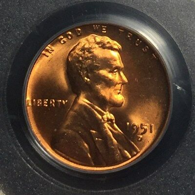 1951-D 1C Lincoln Wheat Cent PCGS MS66RD
