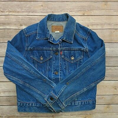 Vintage Levi's Denim Jean Jacket Medium Wash Two Pocket Cotton Made in USA