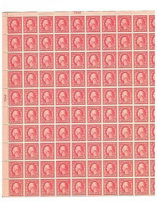 #505  Sheet/100 Block Of 12 With The Double Error Xf Nh