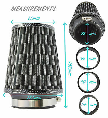 CAS TAF360B Universal Twin Cone Universal Induction Air Filter 4 100mm Neck