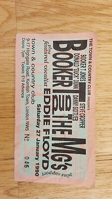 Booker T & the MG's plus Eddie Floyd used concert ticket collectable