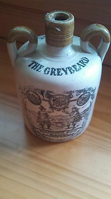Vintage The Greybeard Heather Dew Whiskey Jug Crock Decanter Glasgow Scotland