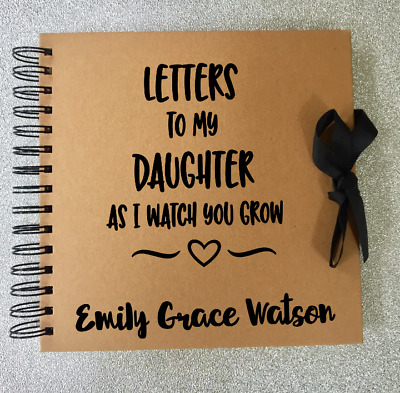 Letters to my daughter, son, memory book, scrap book, baby gift, newborn gift