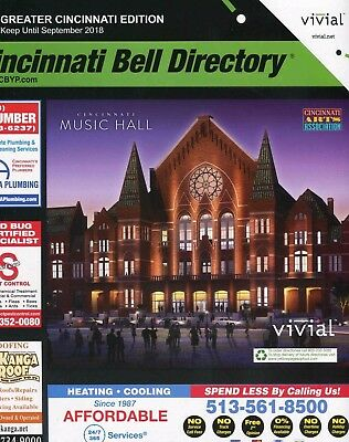 Cincinnati Bell Directory Telephone Number Yellow Book 2018 Northern Kentucky