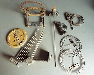 Job lot of vintage mantel & wall clock chimes gongs & parts - spares craft work