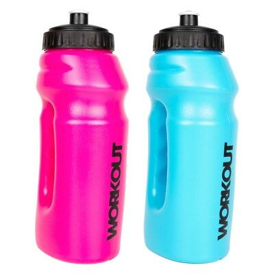 New 695 Ml Running Bottle In Pink Or Blue Rubber Drinking Spout Hand Grip L@@k