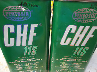 Lot of 2 Liters Pentosin Chf11s Synthetic Power steering Fluid Oil Bmw Mercedes
