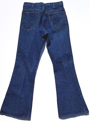 Vintage Orange Tab Big E LEVI'S JEANS Flare Boot  Very Nice!
