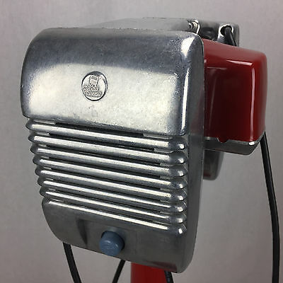 Bluetooth Amplified RCA Glo Top Drive-In Movie Speaker + Red Metal Pole & Base