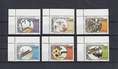 Timbre Stamp  6  Cap Vert Y&t#518-23 Insecte Culture  Neuf**/mnh-Mint 1988 ~A62