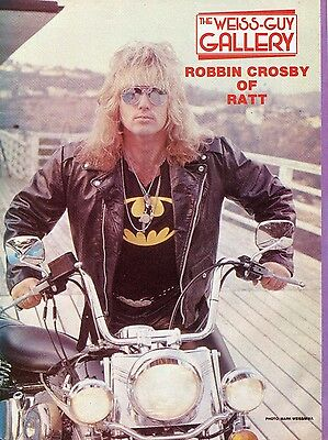 Robbin Crosby Pinup Clipping 80's On Motorcycle Ratt
