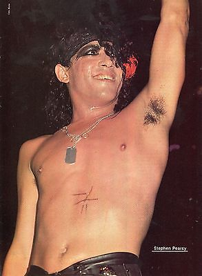 Stephen Pearcy Pinup Clipping 80's Shirtless Sweaty Ratt