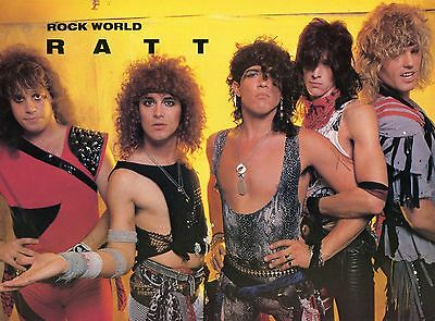 Ratt Pinup Clipping 80's Young Stephen Pearcy