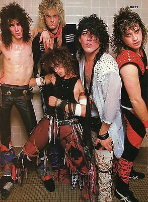 Ratt Pinup Clipping 80's Backstage Robbin Crosby Stephen Pearcy