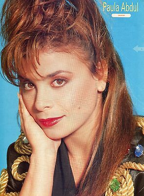 Paula Abdul Pinup Clipping 80's Close Up Cute