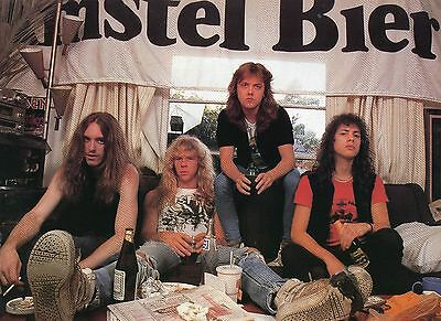 Metallica Pinup Clipping 80's With Cliff Burton