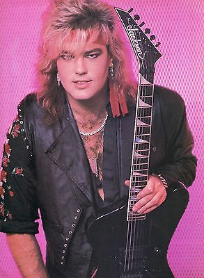 Robbin Crosby Pinup Clipping 80's With Jackson Ratt