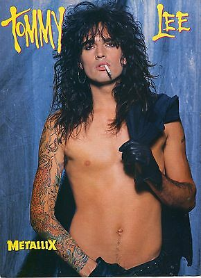 Tommy Lee Pinup Clipping 80's Shirtless Motley Crue
