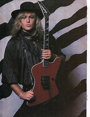 Robbin Crosby Pinup Clipping 80's With Guitar Ratt