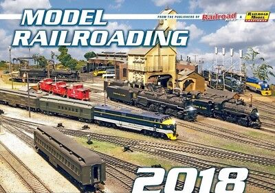 MODEL RAILROADING CALENDAR 2018 - variety of scales & formats -- (NEW, now avai)