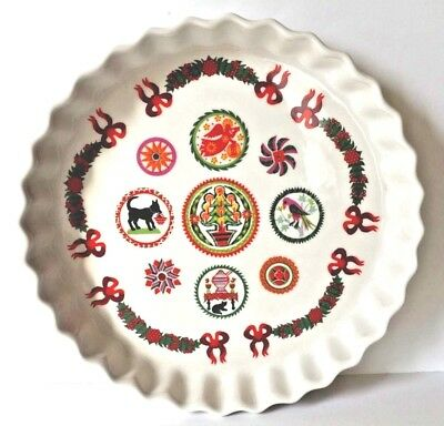 Vintage Portmeirion Christmas Quiche Dish Fully Vitrified