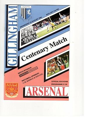 Gillingham v Arsenal 1994 - 1995  Centenary friendly