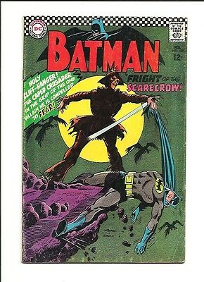 1967 DC Comics Batman # 189 1st Appearance of The Scarecrow VG 4.0 Condition