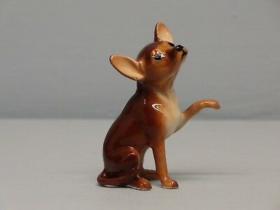 Hagen Renaker Brown Chihuahua W/ Paw Up