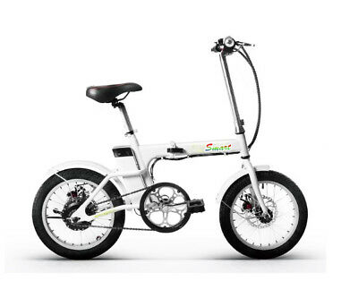 ELECTRIC FOLDING E - BIKE bicycle   WEIGHS:18 kgs 36v  - black or white