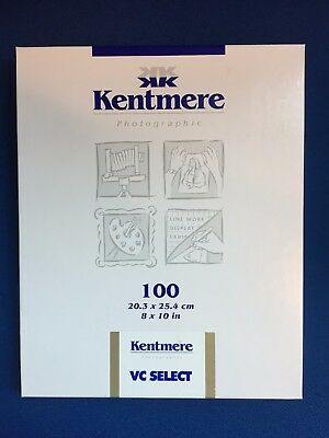 Kentmere VC Select 10x8 'Fine Lustre 100 Sheets
