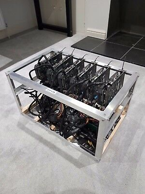 Ethereum / Zcash / Cryptocurrency Mining Rig 6 x Asus Strix RX460 4GB ~ 72MHs