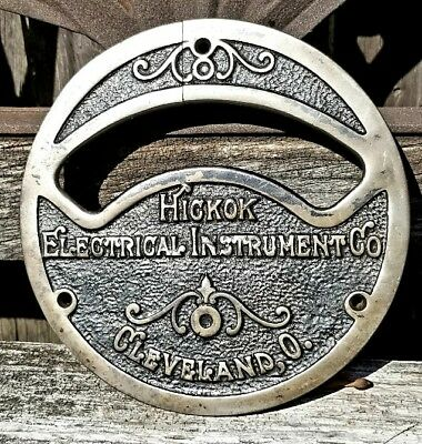 Antique 1910's Rare Hickok Electrical Instrument Co Voltimeter Plate Cover
