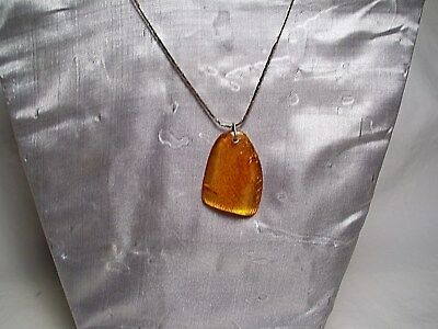 Natural  Baltic Amber Pendant # 13 ~ Classic Clear Golden Amber!!!