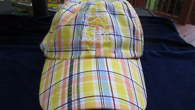 Yellow Plaid The Salty Dog Cafe Cap Hat Super Nice Extreme Fit