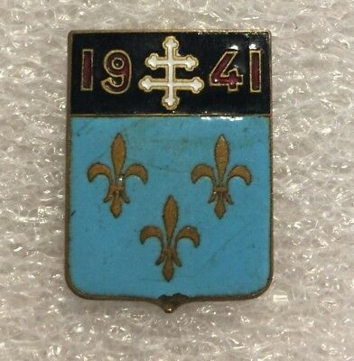 Insigne Original WW2 Aviation Escadron de Chasse 2/5 Ile de France Squadron 340