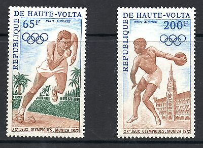 Upper Volta (8095) 1972 Air. Olympic Games. Munich. Sg363-4 Lightly Mounted mint