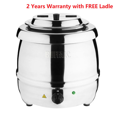 Buffalo Stainless Steel 10 Ltr Soup Kettle Warmer @  Next Day Delivery