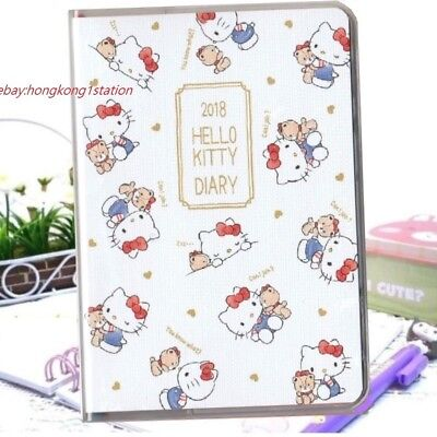 2018Hello Kitty Schedule Book Weekly Monthly Yearly Planner Organizer Date Diary