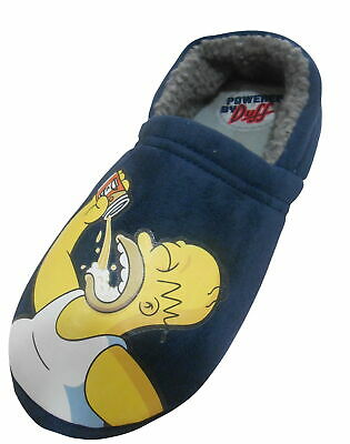 "The Simpsons Mens Slippers ""Powered by Duff Beer"""