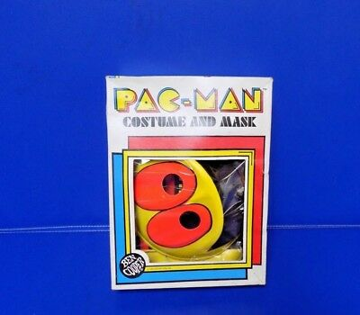 1980 Pac-Man Costume And Mask Ben Cooper Costume Large 12-14 Child/box