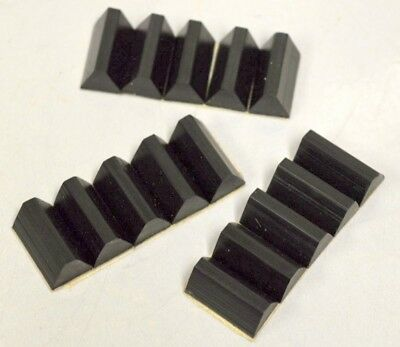 "Rubber Bumpers-Wedge Shape-self stick-3/4""L x 3/8""Base - 1750 pc per box"