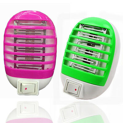 LED Electric Mosquito Fly Bug Insect Trap Zapper Killer Night Lamp US Plug GUT