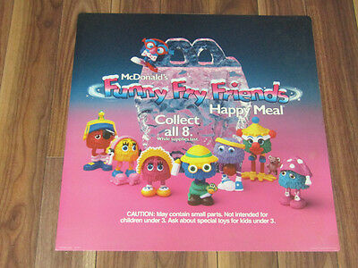 McDonald's Funny Fry Friends Toy Display Sign