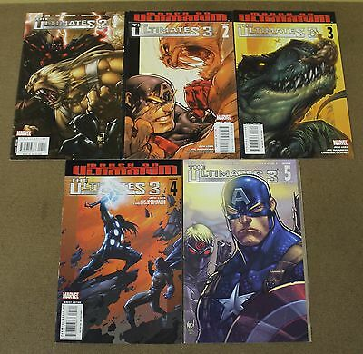 Ultimates 3 (2007 Marvel) #1-5 Lot Of (5) NM-/NM