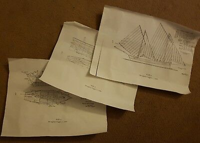 Mevagissey Luggaer Model Boat Plan 3 Sheets A4 - East Cornish 1906