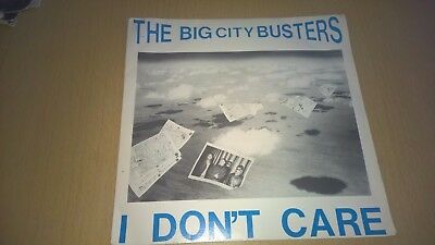 """THE BIG CITY BUSTERS - I Don't Care - 7"""" UK PRIVATE PRESS INDIE POP ROCK 1987"""