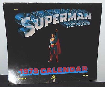 1979 Dc Superman The Movie Calendar Christopher Reeve Unmarked Use For 2018
