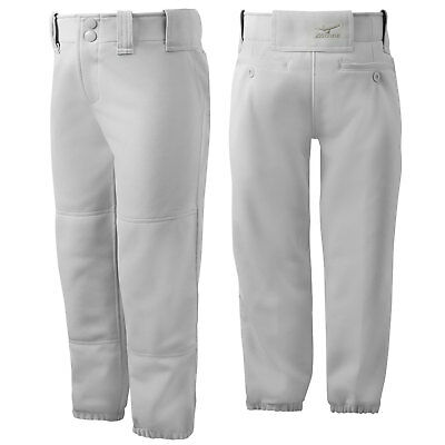 Mizuno Youth Girl's Belted Fastpitch Softball Pant - Gray - Large