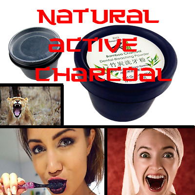 Natural Organic Activated Charcoal Bamboo Toothpaste MAKES TEETH LOOK AMAZING !