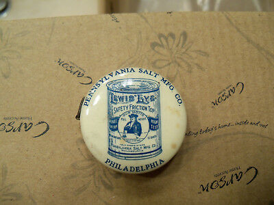 Antique Lewis Lye SALT Pennsylvania mfg Philadelphia advertising tape measure